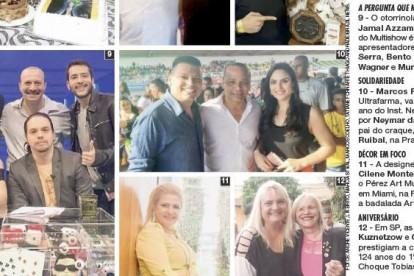 Didi Wagner, Bento Ribeiro, Paulinho Serra, Murilo Gun e Dr. Jamal Azzam na Revista Caras, janeiro de 2016