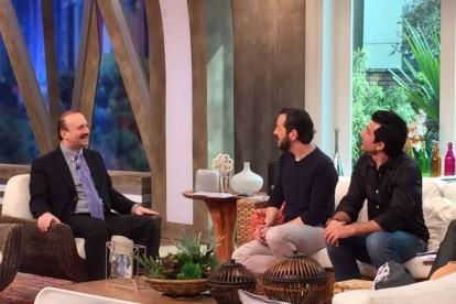 Dr. Jamal Azzam no Programa Melhor pra Você da RedeTV!, com os apresentadores Celso Zucatelli e Edu Guedes, julho de 2015