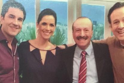 Edu Guedes, Mariana Leão, Celso Zucatelli e Dr. Jamal Azzam na Revista Caras de julho de 2015