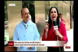 Dias de tempo seco em São Paulo - GloboNews Estúdio i