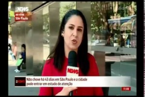Dias de tempo seco em São Paulo - GloboNews Edição das 10h